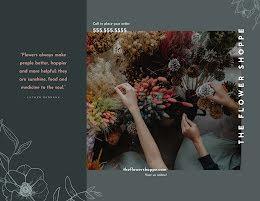 The Flower Shoppe - Trifold Brochure item