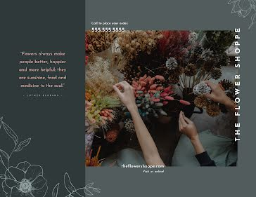 The Flower Shoppe - Business Brochure template