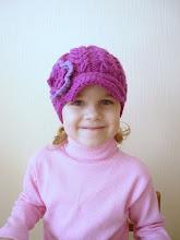 Photo: вязаная кепка для девочки Колосок