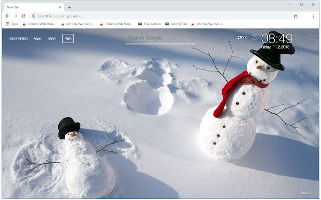 Snowman HD Wallpapers Snow Man New Tab Themes