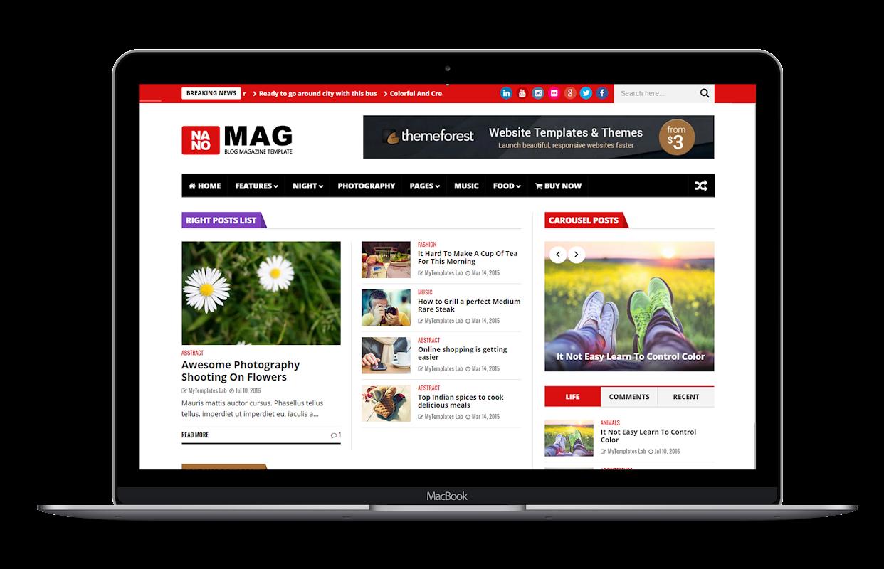 NanoMag - Responsive Blog & Magazine Blogger Template - 15
