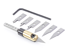 Amana Tools AMS-210 Premium 8-Piece In-Groove (TM) Insert Engraving Kit