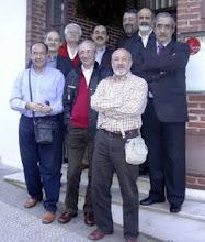 """Photo: 10/1/2008 en Santander: Isidro Cícero, José Luis Zamanillo, Javivi del Vigo, Miguel Angel """"Boli"""" y Daniel O.Santamarta, y los cuatro ´leoneses"""" Trapi, Martín Froilán y el furriel."""