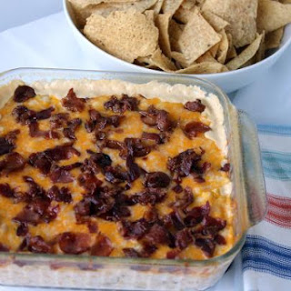 Cheesy Corn Dip With Bacon And Jalapenos