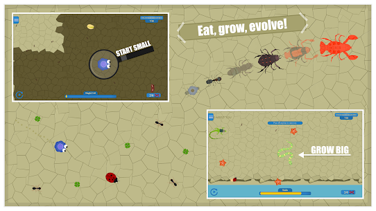 Spore Evolution : Evolve/mutate a hybrid cell 1
