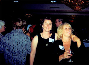 Photo: Joan O'Donnell and Cathy Neifing at the 2002 ReUnion of Class of 67