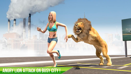 Angry Lion City Attack : Hunting Animal Simulator 1.0 de.gamequotes.net 1