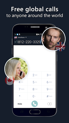 2nd phone number - free private call and texting 1.8.0 screenshots 1
