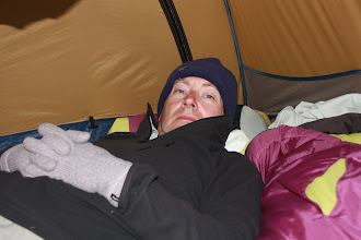 Photo: Day 12 - Rog Knackered after a Very Long Day!