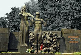 Photo: Lwów, fragment monumentalnego pomnika poświęconego Zwycięzcom nad faszyzmem.