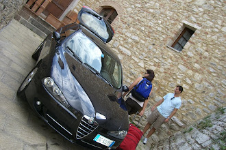 Photo: Loading up to leave the castle in Sienna, Italy and heading to Chianti, Italy