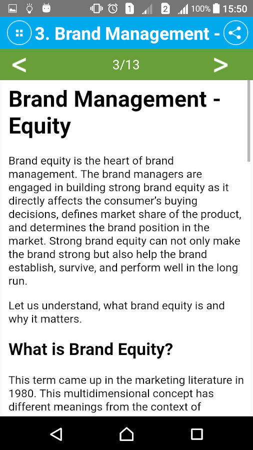 Learn Brand Management- screenshot