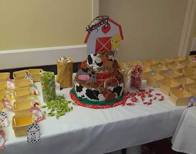barnyard theme diaper cake