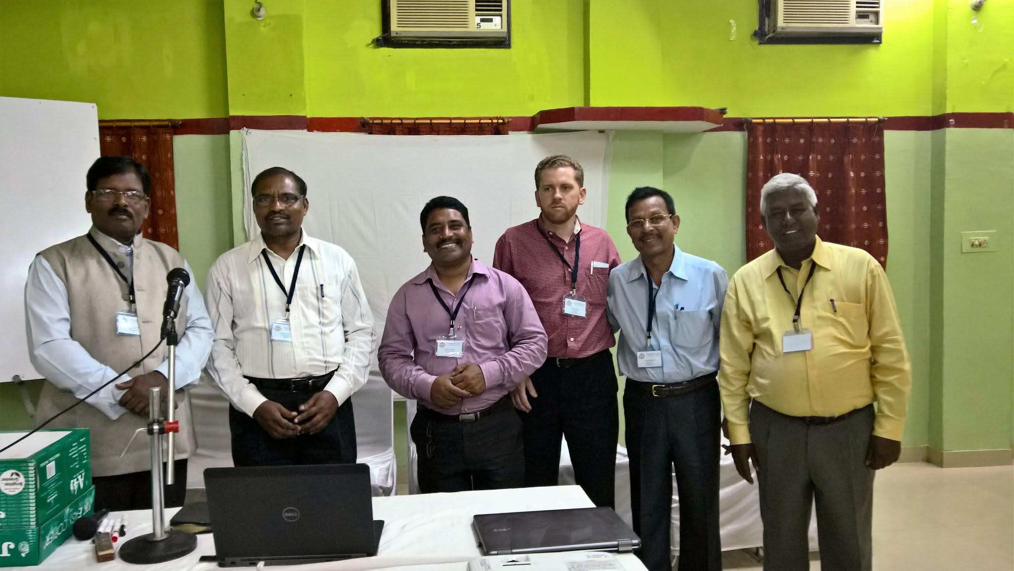 Photo: The MTM Odisha Bible School Committee L-R; Pastor Benoy, Pastor Suresh, Pastor Prabas, Marvin Kauffman, Pastor Pranob. Santa Murtey is not a part of the committee but has been like a father to me for many many years.