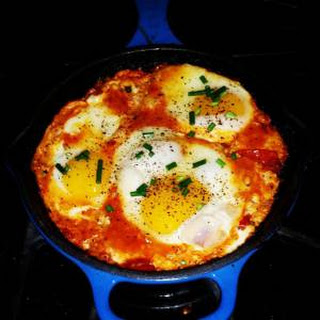 Shakshuka - Eggs Poached in a Spicy Tomato Sauce
