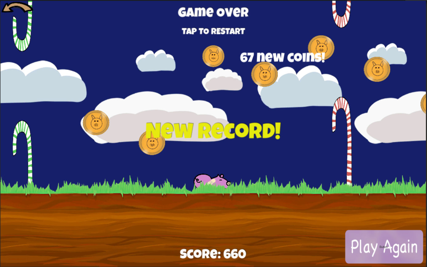 Flying Candy Pig- screenshot