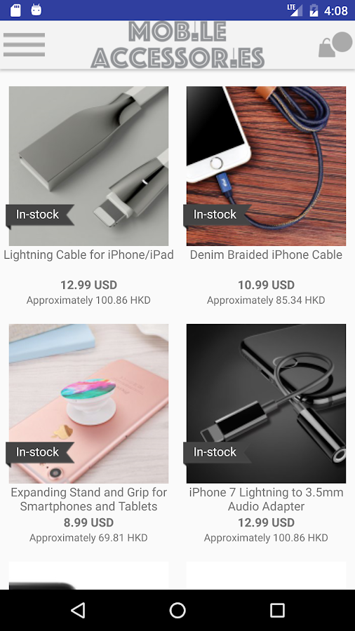 Mobile Cell Phone Accessories- screenshot