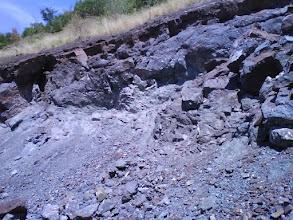 Photo: Část stěny s kalcity na 2. etáži