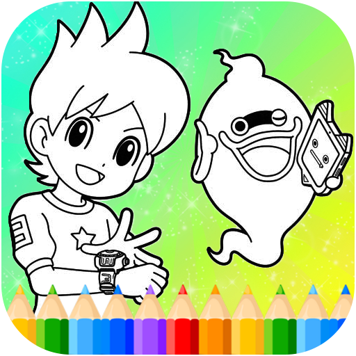 Yokai Coloring Game for Nate and Whisper