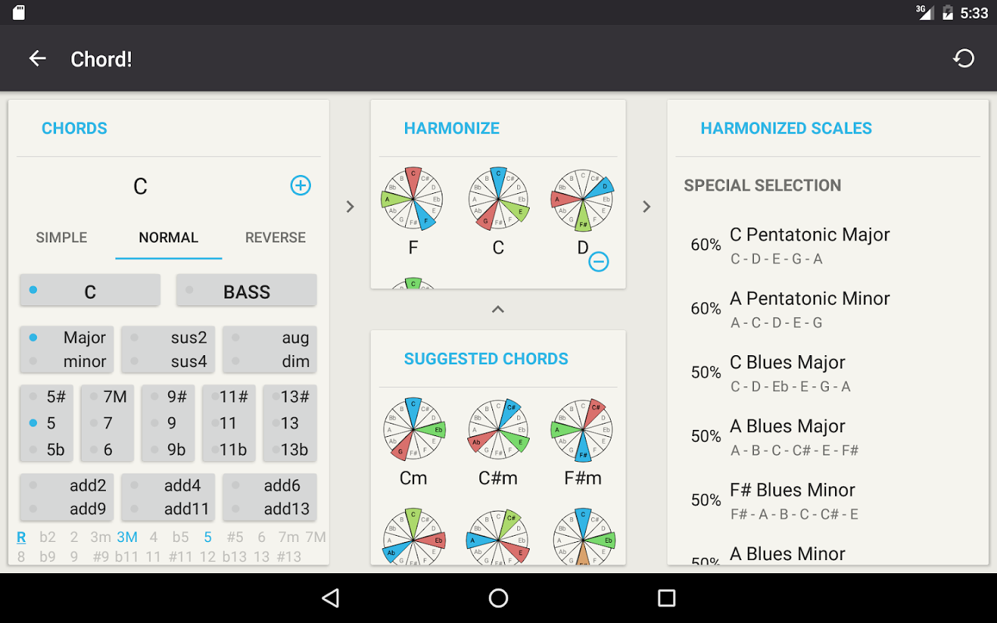 Chord guitar chord finder android apps on google play guitar chord finder screenshot hexwebz Choice Image