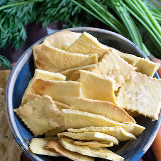 Vegan Chickpea Crackers.