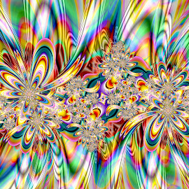 Mandelbrot Fantasia by Peggi Wolfe - Illustration Abstract & Patterns ( digital, color, fractal, abstract )