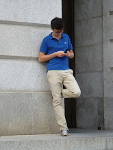 Photo: Francois texting.