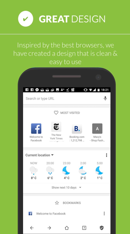 Free Adblocker Browser - Adblock & Popup Blocker Screenshot 5