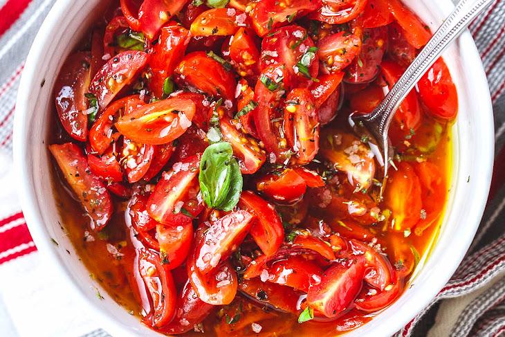 Marinated Cherry Tomato Salad Recipe