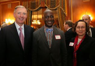 Photo: BBA President Paul Dacier, Dr. Ebi Okara, and Judge Judith Fabricant (Superior Court).
