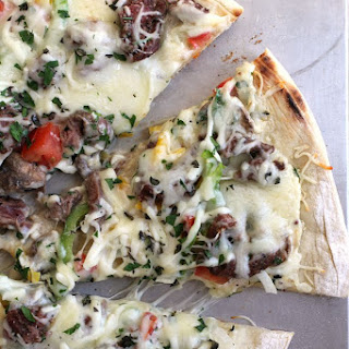 Grilled Philly Cheesesteak Pizza Recipe
