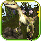 3D Jurassic Raptor Run Land