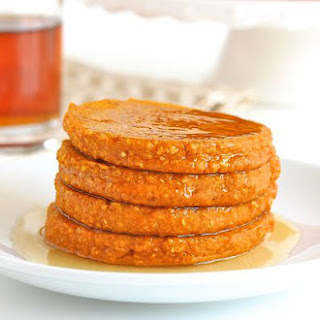 Healthy Pumpkin Oatmeal Blender Pancakes.