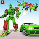 Drone Robot Transforming Games: Robot Car Games icon