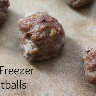 Basic Freezer Meatballs.