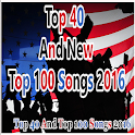 Top 40 &Top 100 New songs 2016 icon