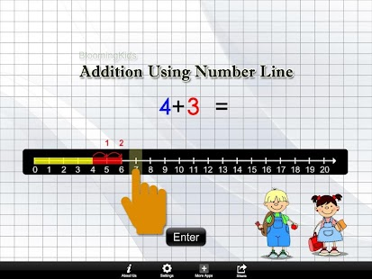 Addition Using Number Line Lit- screenshot thumbnail
