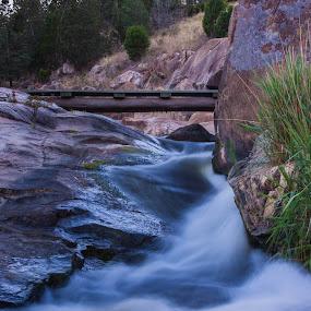Slick Rock by Daniel Wheeler - Landscapes Waterscapes ( water, green, australia, creek, rock )