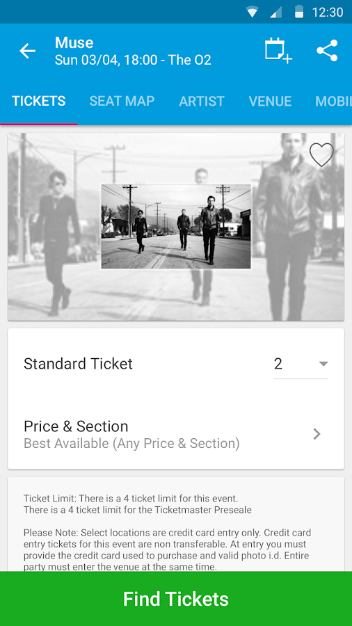 Ticketmaster UK Event Tickets- screenshot