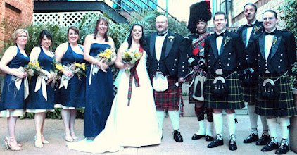 Photo: Larkin's on the River - Greenville - A Scotish Theme wedding with bagpiper! April 2009 - www.WeddingWoman.net ~  Photo by Hollie Kussmaul ~  http://hkussmaulphotography.com