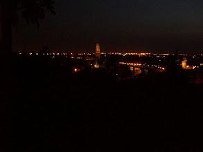 Photo: Verona bij avond. Uitzicht vanaf het terras op de camping.
