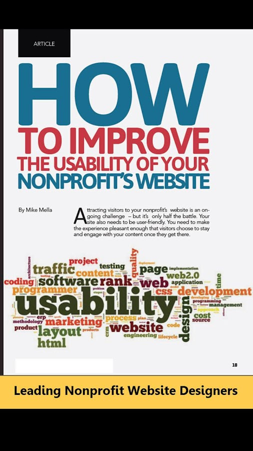 Nonprofit Website & App Review- screenshot