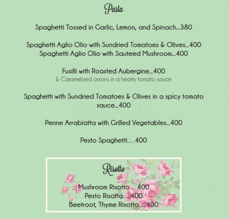 Rose Cafe menu 10