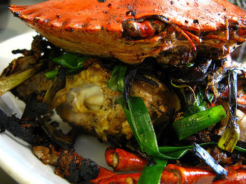 Stir Fry Crabs with Ginger and Scallions recipe