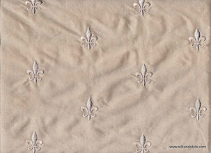 Photo: Agra 06 - Palace Embroidery - Dove   100% Silk Taffeta Plain