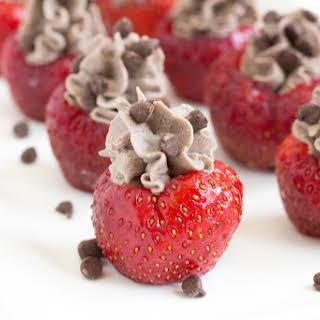 Chocolate Cannoli Stuffed Strawberries.
