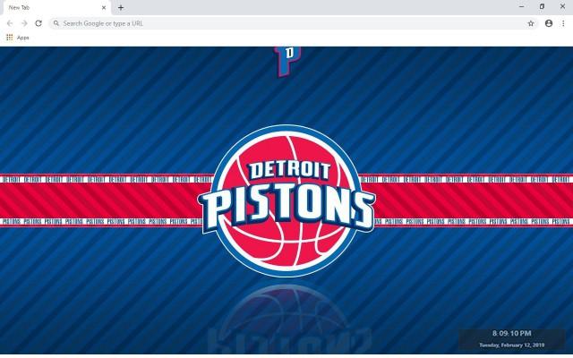 Detroit Pistons New Tab Theme