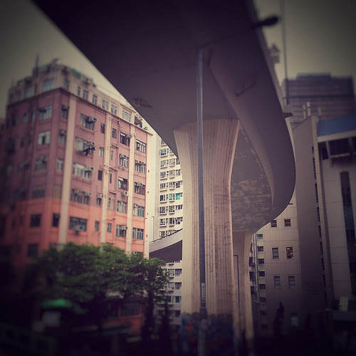 Hong Kong, Overhead, express, Highway,  香港, 高速, 公路, highway close to building