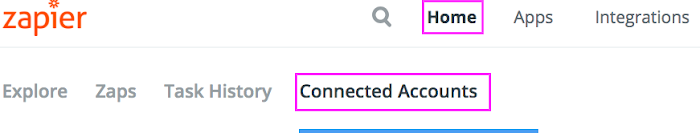 Connected Accounts in Zapier