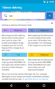 Telenor dekning- screenshot thumbnail